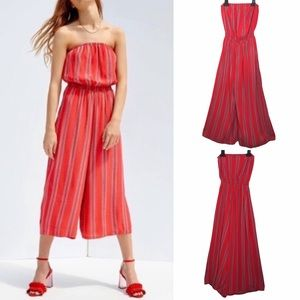 Urban Outfitters Silence + Noise Striped Jumpsuit